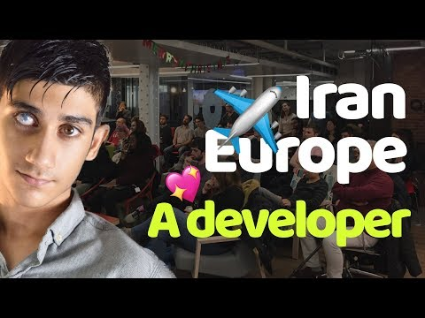 Story of a developer from Iran to Europe @ WEBDeLDN meetup