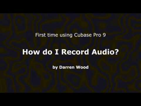 How to record Audio using Cubase Pro 9