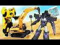 Новые игры для мальчиков - Роботы Трансформеры и строительные машины! - Онлайн видео сборник.