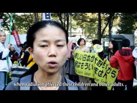 Fukushima women peacefully protest nuclear