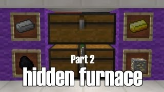 Minecraft Automatic 4-way Split Furnace with Hoppers