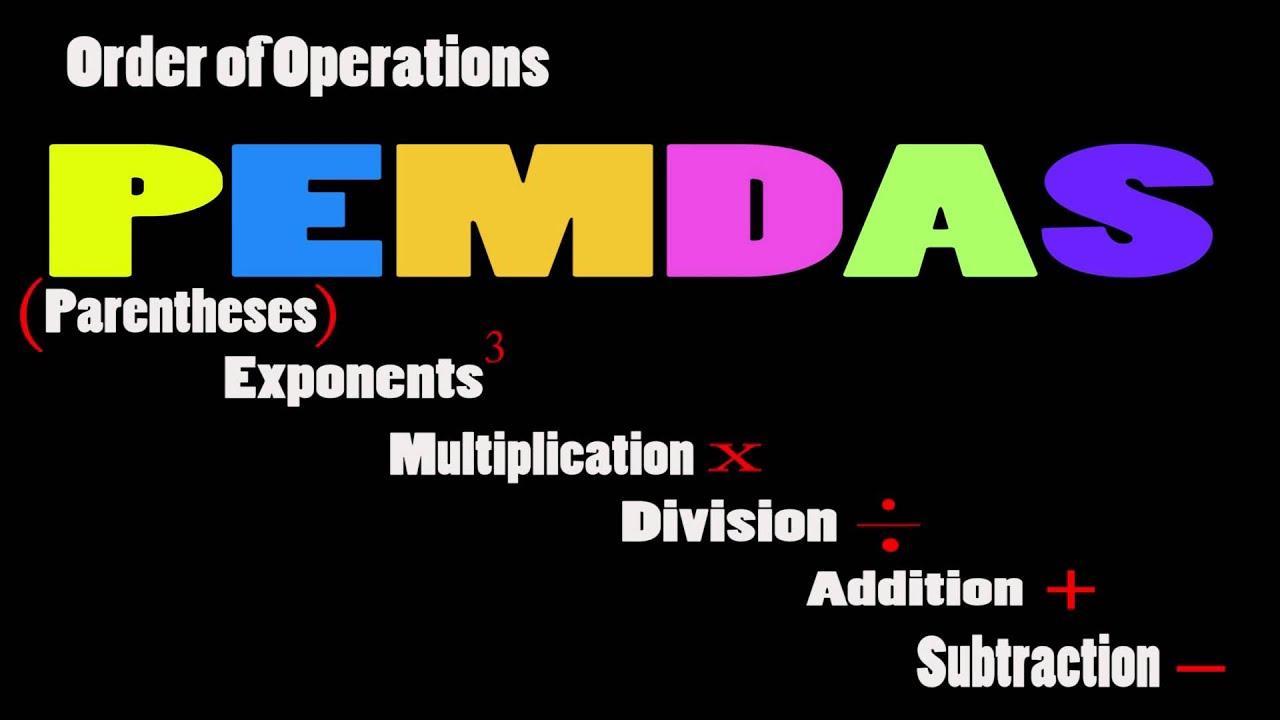 Pemdas Order Of Operations Youtube