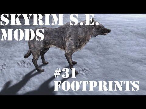 skyrim special edition footprints