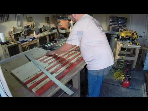 American Flag Cabinet Build