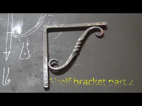 Forged iron shelf bracket - part 2 - basic blacksmithing