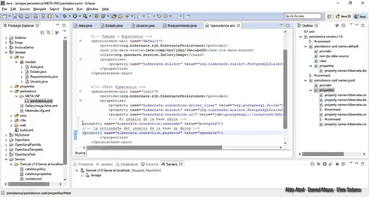 Aplicación con OpenXava PROMAINFO