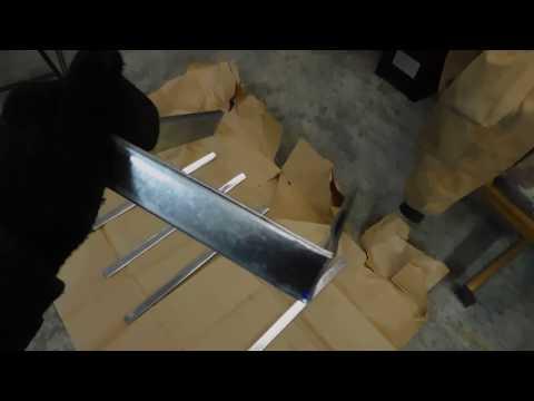DIY Faux Barn Wood Ceiling Beam Straps