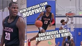 New Superior Team HOOPING!! Dontavious King PUNISHES The RIM!! Superior vs Potters House