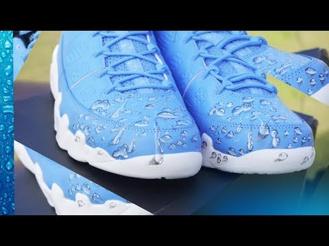 Custom Painted Jordan: Rain drop 2.0