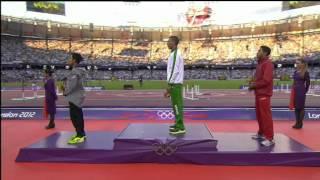 حفل تتويج توفيق مخلوفي بذهبية 1500 مترأولمبياد لندن 2012