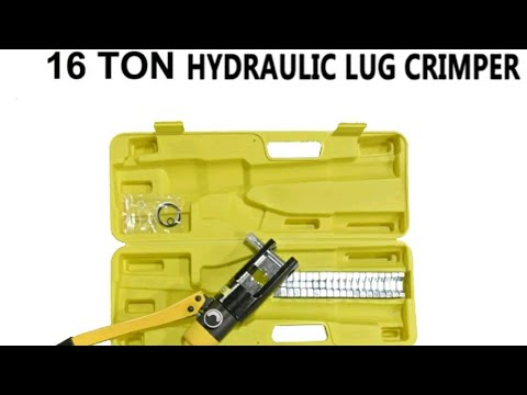 16 TON HYDRAULIC WIRE BATTERY CABLE LUG TERMINAL CRIMPER CRIMPING ...