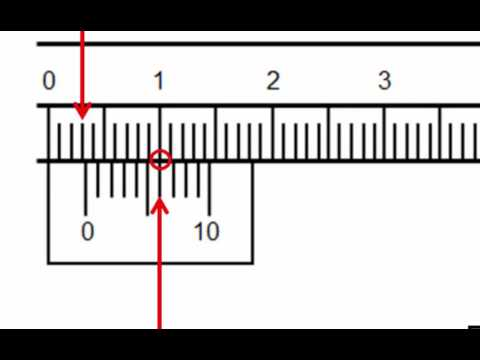 How To Read A Pair Of Vernier Calipers