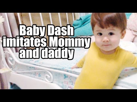 Baby Dash Imitates Mommy, Daddy And MANY More!! (1yr 5m)