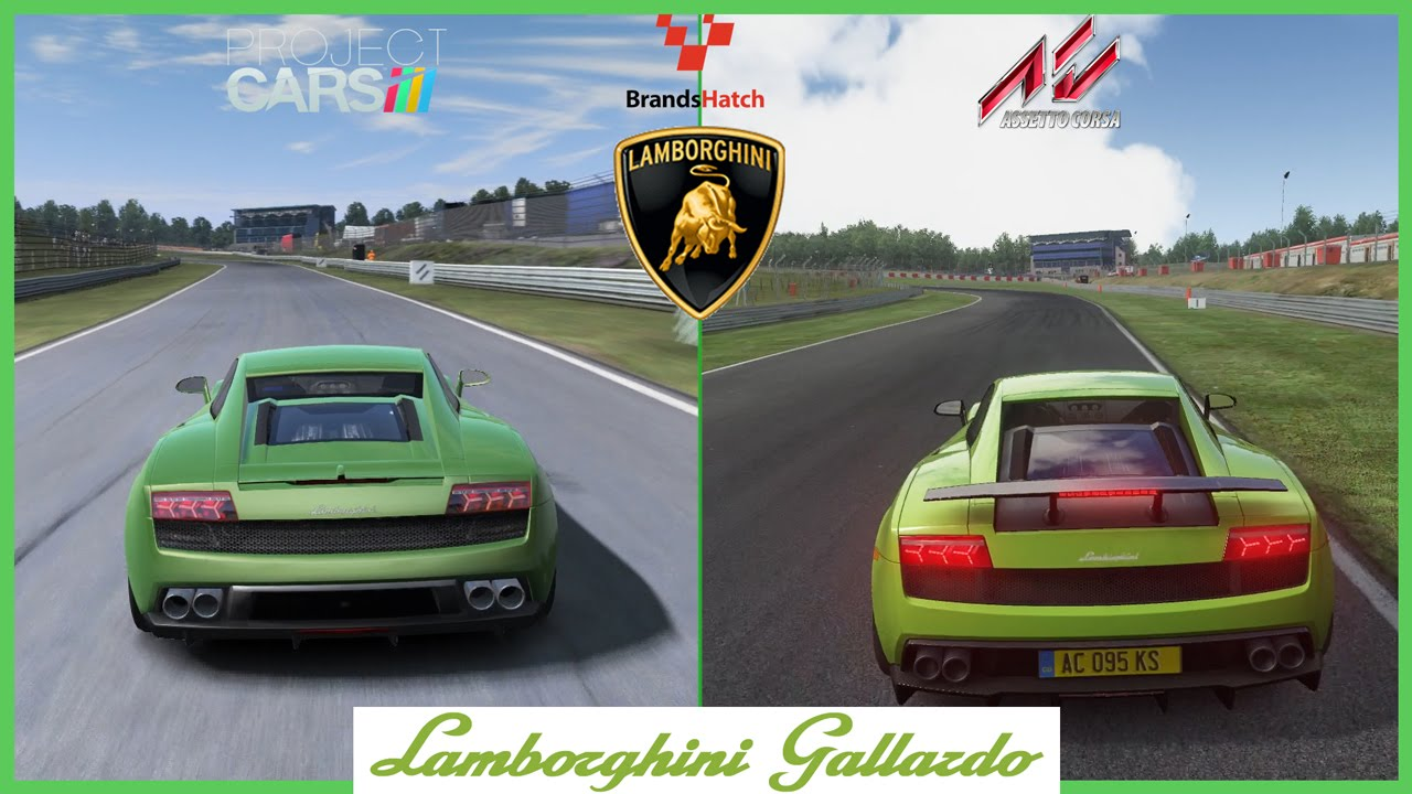 assetto corsa vs project cars lamborghini gallardo mod at brands hatch youtube. Black Bedroom Furniture Sets. Home Design Ideas