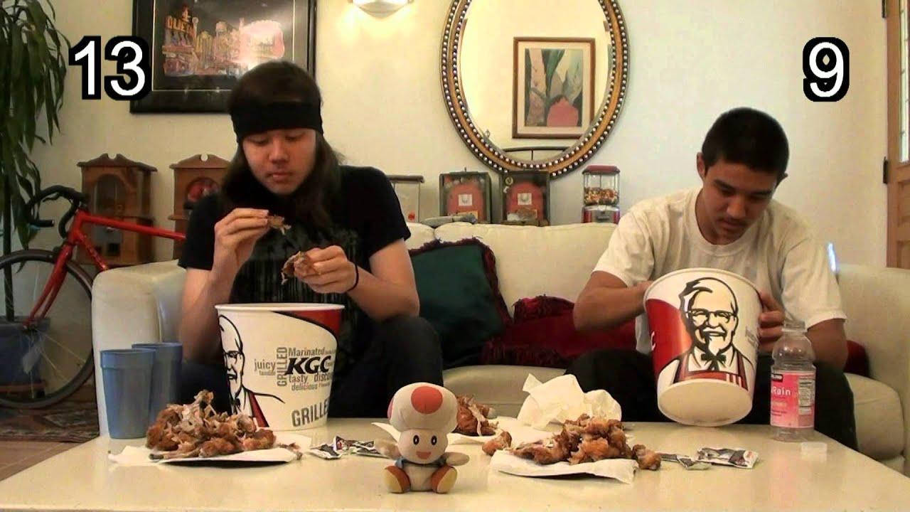 Kfc Bucket Funny: KFC 20 Piece Bucket Eating Challenge