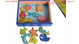 Free Shipping  French BOIKIDO  wooden educational toys  magnetic toys  fishing fishing board games
