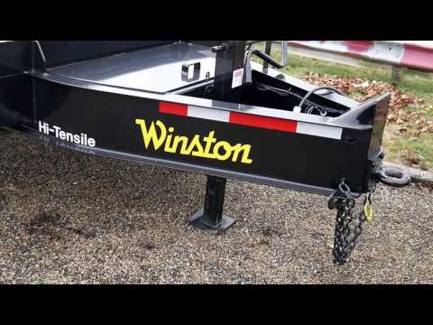 25' Winston Tandem Dual 10TON DeckOver Equipment Trailer