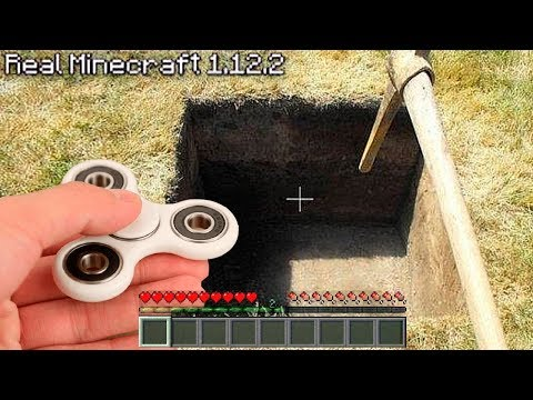 REALISTIC MINECRAFT IN REAL LIFE FIDGET SPINNER ~ IRL ANIMATION / The Best Episode