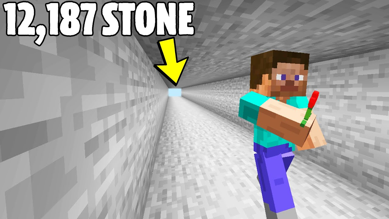 Digging the Longest Mine with a Flower in Minecraft