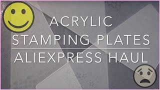 Haul - Acrylic Stamping Plates from Aliexpress (XY-K series)✓