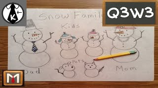 How to Draw a Snow Family
