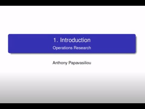 LINMA2491 Lecture 1: Introduction, Capacity Expansion Planning, Uncertainty and Modeling Issues