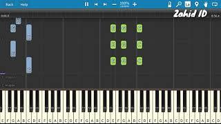 Lagu Anak NAIK BECAK Piano Tutorial (Belajar Musik)