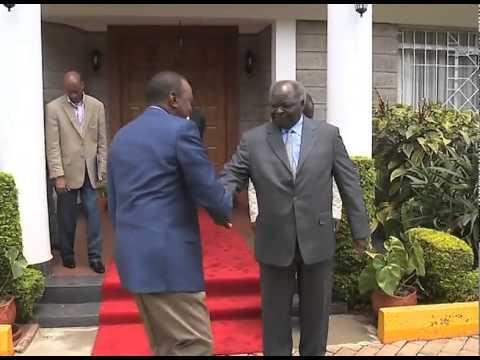 Pres. Kenyatta, Dp Ruto Meet Rtd. President Mwai Kibaki In Nairobi
