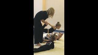 Показательный урок по художественной гимнастике дети 3 года