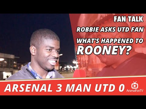 Robbie Asks Utd Fan What's Happened to Rooney? [Ft UPTV] | Arsenal 3 Man Utd 0