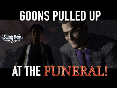 """GOONS PULL UP AT THE FUNERAL! ( FUNNY """"SAINTS ROW 2"""" GAMEPLAY)"""