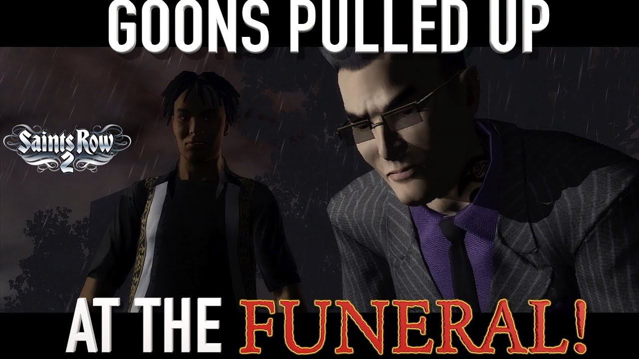 GOONS PULL UP AT THE FUNERAL FUNNY SAINTS ROW 2 GAMEPLAY