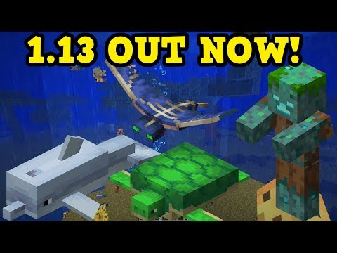 Minecraft 1.13 OUT NOW - Aquatic Update ALL NEW FEATURES thumbnail
