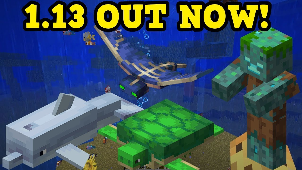 minecraft out now aquatic update all new features. Black Bedroom Furniture Sets. Home Design Ideas