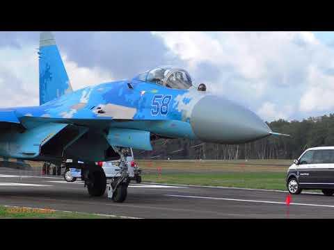 Awesome Arrival Ukrainian AF SU27 Flankers at Kleine Brogel AB (EBBL)