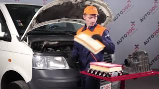 Kuinka vaihtaa ilmansuodatin VOLKSWAGEN T5 -merkkiseen autoon OHJEVIDEO | AUTODOC