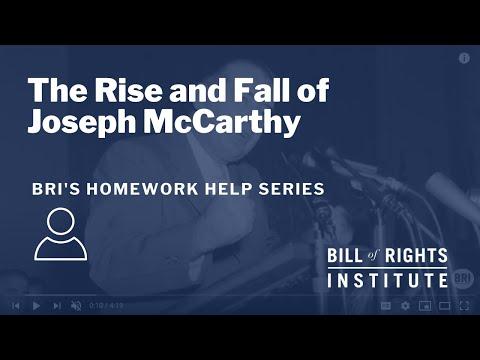The Rise and Fall of Joseph McCarthy | BRI's Homework Help Series