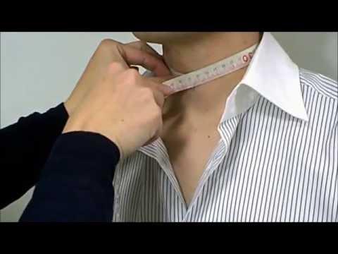 ワイシャツ用・首回りと裄丈の測り方