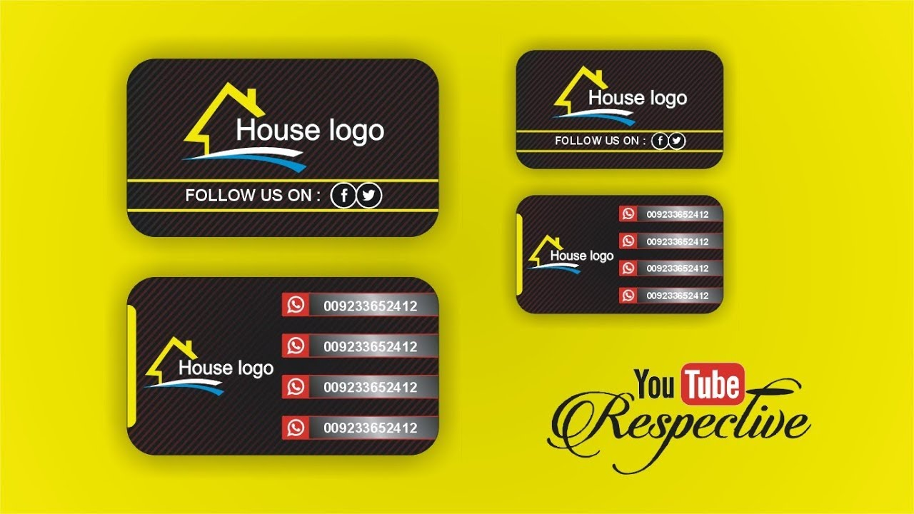 Latest business card design with download r file youtube latest business card design with download r file reheart Choice Image