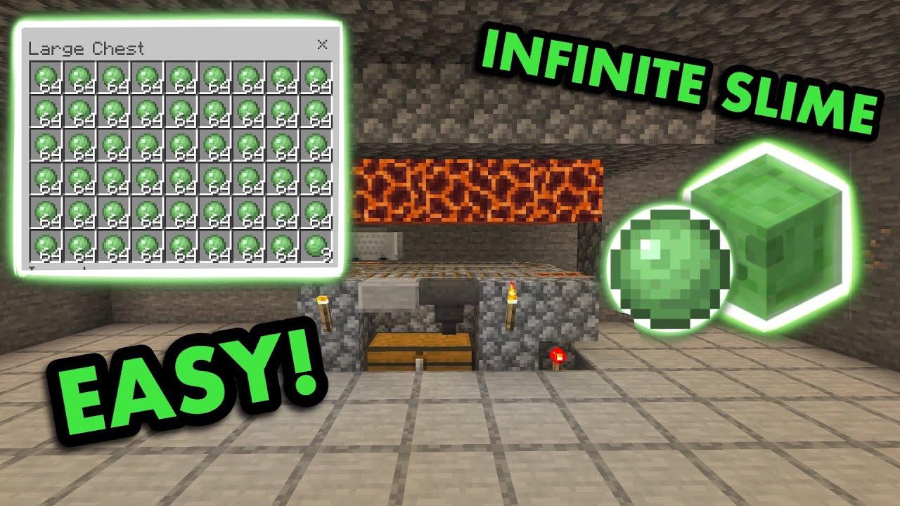Simple 1 16 Slime Farm Tutorial In Minecraft Bedrock Mcpe Xbox Ps4 Nintendo Switch Windows10 Youtube