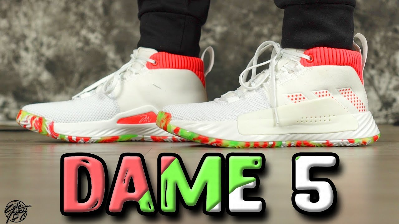 Adidas Dame 5 First Impressions Damian Lillard Signature Shoe Youtube