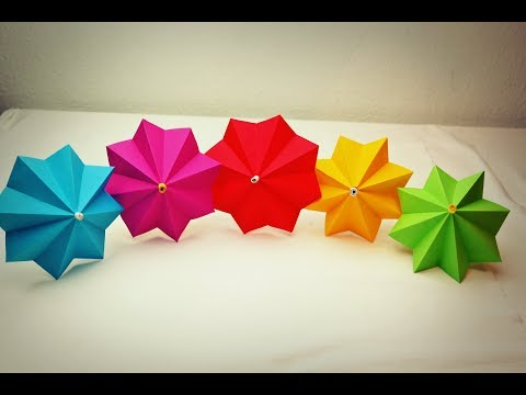 How to Make Paper Umbrella - DIY Paper Umbrella