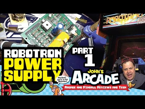 Williams Robotron Power Supply Repair and Troubleshooting Arcade Part #1