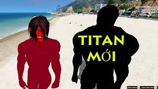 GTA 5 - Attack on Titan - Titan đen xuất hiện - Eren đỏ ngăn cản | GHTG