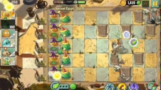 Растения против зомби 2 уровень 9 древний египет