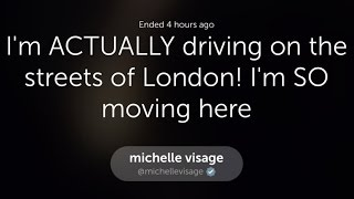 Michelle Visage Periscope ✰ Driving in London  (official)