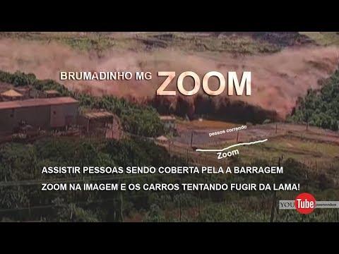 BRUMADINHO MG SENDO COBERTA PELA A BARRAGEM ZOOM NA IMAGEM E OS CARROS TENTANDO FUGIR DA LAMA!