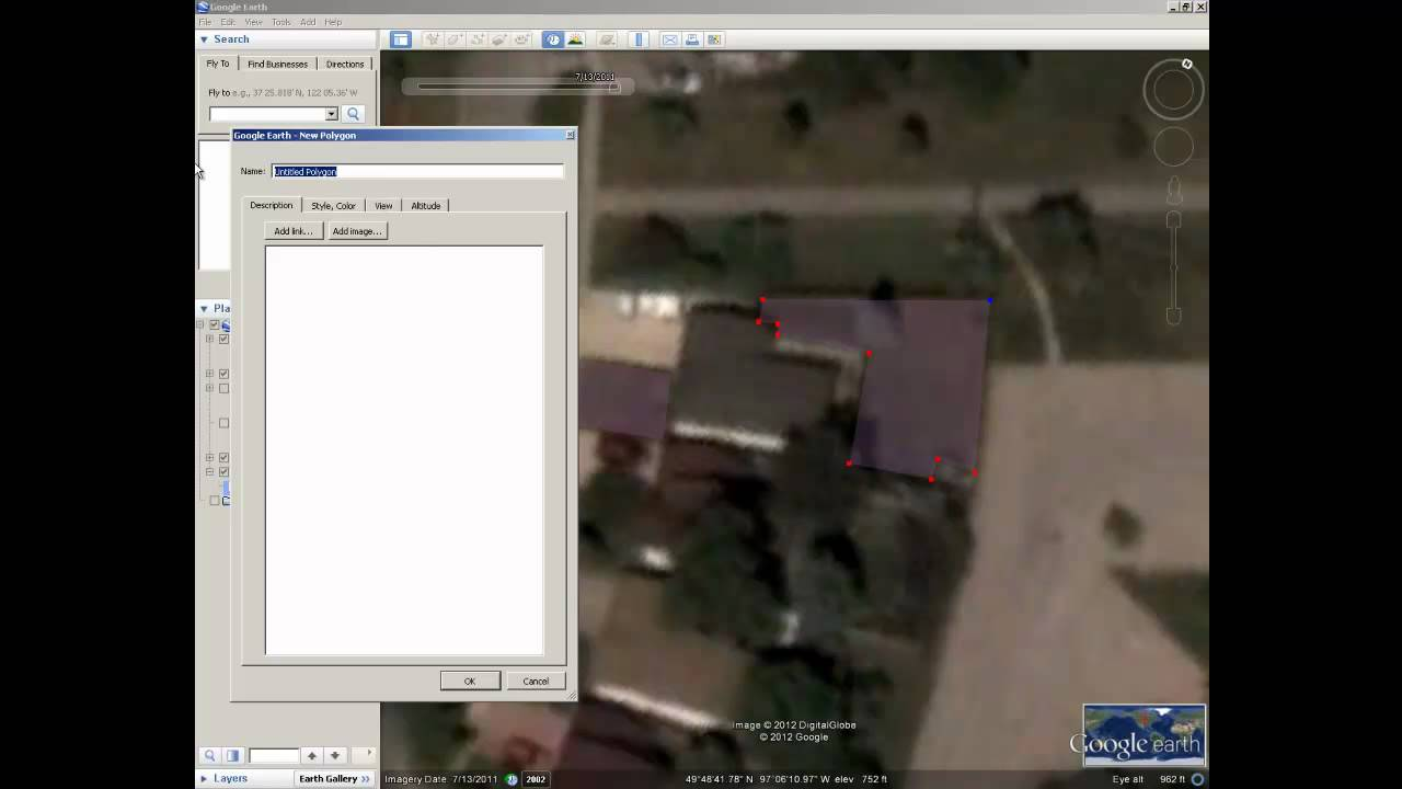 Using Polygons To Calculate Area In Google Earth