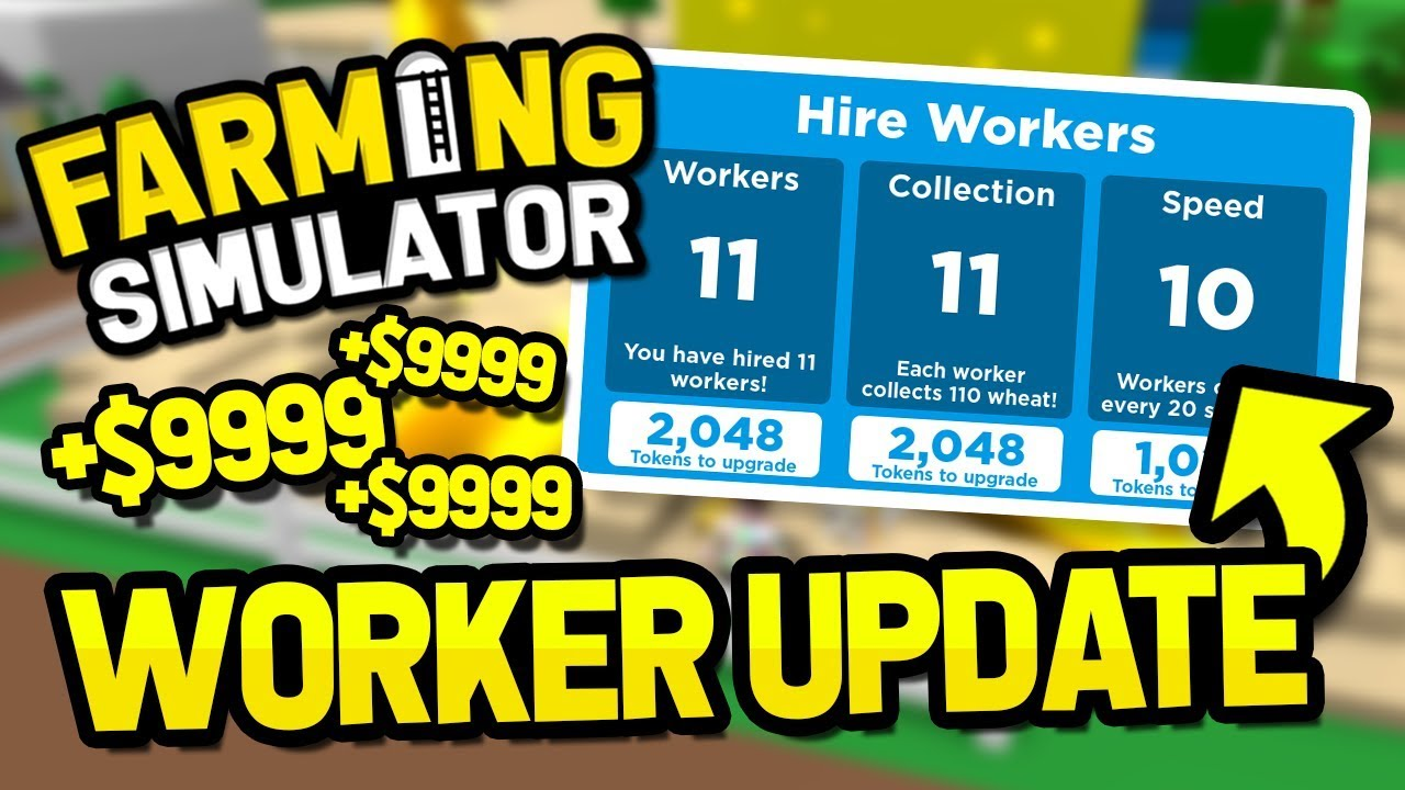 HIRE WORKERS UPDATE in ROBLOX FARMING SIMULATOR