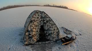 Зимняя рыбалка в Саратовской области 05 12 2020 Разведка ледовой обстановки в Чардыме